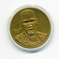 1995 Upper Deck Hardcourt Heroes Michael Jordan Bronze Coin Medallion Ltd Ed.