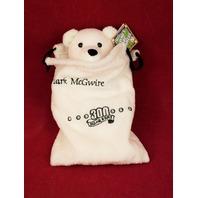 Salvino's Mac Bammers Mark McGwire #25 Beanie Plush Bear In Bag 300 Home Runs