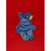 Salvino's Bammers Opening Day Mike Piazza #31 Blue Beanie Plush Bear