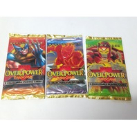 Lot Of 3 Fleer Marvel OverPower Card Game Booster Packs NOS NEW