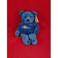 Salvino's Bammers Opening Day Mo Vaughn #42 Blue Beanie Plush Bear