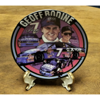 """1995 Sports Impressions Mini Plate 4"""" Geoff Bodine #7 Exide Gift Idea"""
