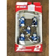 2005 Trevco NASCAR Rusty Wallace Snowmen Pit Crew Christmas Mini Ornaments NIP