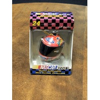 2001 Trevco #24 Jeff Gordon Mini Helmet Christmas Ornament NASCAR NOS