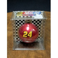 1998 Winner's Circle Jeff Gordon #24 Red Christmas Bulb Ornament NOS NASCAR