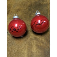 Lot of 4 Dale Earnhardt Jr. #8 Red Christmas Bulb Ornaments