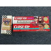 2 Boxes Jeff Gordon Close Up Toothpaste & 1 Pack NASCAR 50th Anniversary Kleenex