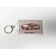 Vintage Davey Allison #28 Havoline Texaco Plastic Keychain Keyring NASCAR