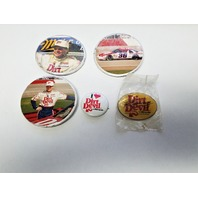 Lot Of Vintage NASCAR Kenny Wallace #36 Dirt Devil Pins & Magnet