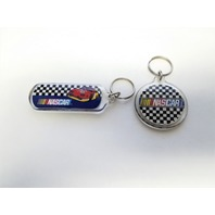 Lot Of 2 Vintage NASCAR Plastic Keychains Keyrings