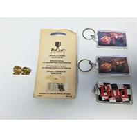 Lot Of Vintage NASCAR Bill Elliott Keychains And Lapel Tack Pins Bud McDonald's