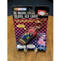1999 Original NASCAR Talking Keychain Jeff Gordon #24 DuPont Car NOS