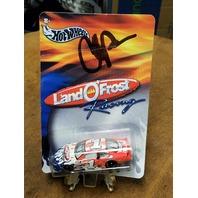 2002/03 Hot Wheels Land O' Frost Racing 1:64 #1 Diecast Car w/ Autograph NASCAR