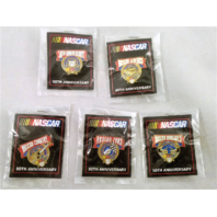 Set of 5 1998 NASCAR 50th Anniversary Lapel Tack Pin Fans Legends Country NOS