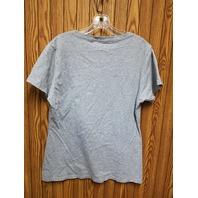 Fanatics Washington Nationals Gray V-Neck Cap Sleeve T-Shirt Tee Women's Size L