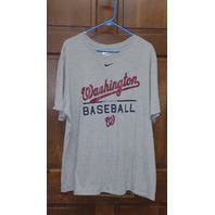 Nike Tee Athletic Cut Washington Nationals Gray Graphic T-Shirt Men's Size 3XL