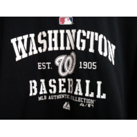 Majestic Therma Base Washington Nationals Black Pullover Hoodie Size XL Baseball