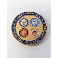 """Navy League Of The United States Navy Days-LA 1.75"""" Challenge Coin"""
