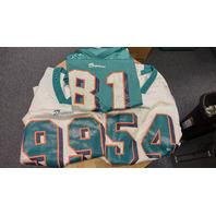 2 Puma Miami Dolphins Jerseys 54 Thomas 99 Taylor & Starter 84 McDuffie Youth L