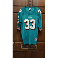"Vtg 1998 NFL MIAMI DOLPHINS #33 ""ABDUL"" Karim Abdul-Jabbar Jersey Shirt L RARE"