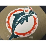 Riddell Miami Dolphins Men's Tan Brown Graphic T-Shirt Size XL Football