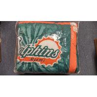 Miami Dolphins FULL Size 3-Pc Printed Comforter & Sham Set Vintage Logo