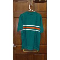 Vintage Iron Knights Athletics Miami Dolphins Teal Polo Shirt Men's Size L