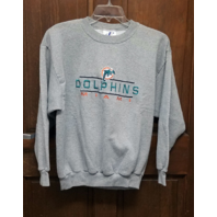 Logo Athletic Gray Miami Dolphins Sweatshirt Men's Size L Large Football