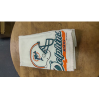 """Miami Dolphins Kitchen Hand Towel With Grommet 15.5"""" x 23"""""""