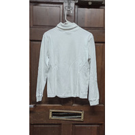 Vtg NFL for Her Miami Dolphins Embroidered Collar White Turtleneck Size L