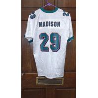 Puma White Miami Dolphins #29 Sam Madison Jersey Size L (14-16) Youth Large