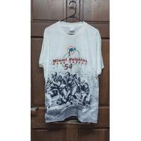 All Sport Events White Miami Dolphins #54 Zach Thomas T-Shirt Men's Size L (44)