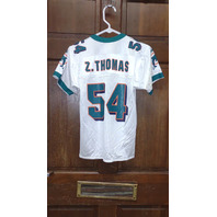 Puma White Miami Dolphins #54 Zach Thomas Jersey Size S (8) Youth Small