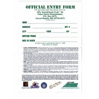 Vtg NFL Quarterback Club '99 Video Game Sweepstakes Entry Form N64 Brett Favre