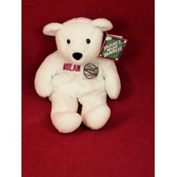 Salvino's Nolan Bammers Nolan Ryan #30 White Beanie Plush Toy Bear MLB CA Angels