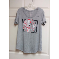New York Yankees Athletic Cut Gray Women's T-Shirt Size M MLB Baseball