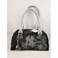 MLB New York Yankees Black Handbag Shoulder Bag Purse Baseball New MLYK5636 NWT