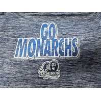 Russell ODU Old Dominion Go Monarchs Blue Stripes Graphic T-Shirt Size XL 46/48