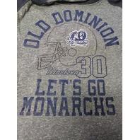 Rivalry Threads 91 ODU Old Dominion Monarchs Blue & Gray 1/2 Sleeve Shirt Sz S