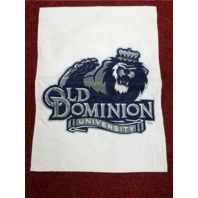 "ODU Old Dominion Monarchs Banner Flag Pennant White Blue Lion 12.5"" x 17.5"""