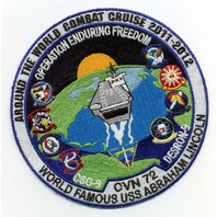USS Abraham Lincoln CVN-72 Operation Enduring Freedom OEF 2011-2012 Patch