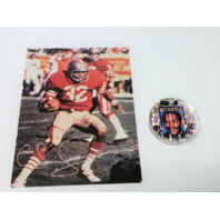 OJ Simpson Where's The Juice Slammer Pog & 1983 Special Edition Souvenir Card