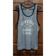 Old Navy Soft Washed Gray Varsity Tank New York Summer League Men's XL Baseball