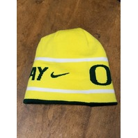 Nike Oregon Ducks Reversible Win the Day Knit Beanie Hat Cap NWT NCAA