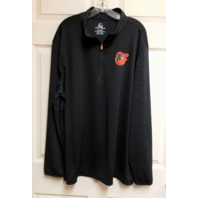 Majestic Cool Base Baltimore Orioles Black 1/4 Zip Long Sleeve Shirt Sz XXL 2XL