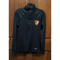 Under Armour HeatGear Semi-Fitted 1/2 Zip Baltimore Orioles Black L/S Shirt Sz M