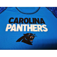 NFL Team Apparel TX3 Cool Women's Blue Carolina Panthers Athletic Shirt Sz M