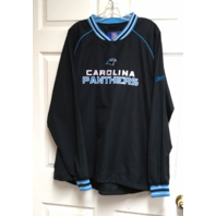 Reebok NFL Carolina Panthers Black Pullover Jacket Size L Football