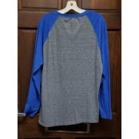Fanatics Pro Line New England Patriots Blue & Gray Long Sleeve Shirt Size L