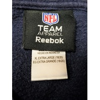 Reebok NFL Team Apparel Blue New England Patriots Pullover Hoodie Size XL